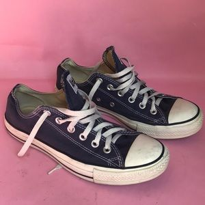 Dark blue All Star Converse lace up sneakers